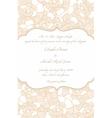 wedding card in retro design vector image