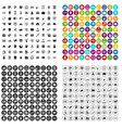 100 financial department icons set variant vector image vector image
