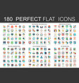 180 modern flat icons set of cyber security vector image vector image