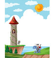 a fairy tale story template vector image vector image