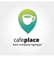 Abstract coffe cup marker for maps logotype vector image vector image