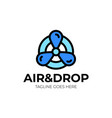 Air cooling logo two colored and black