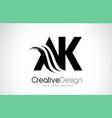 ak a k creative brush black letters design