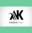 ak a k creative brush black letters design with vector image vector image