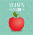 apple freah wellness lifestyle vector image