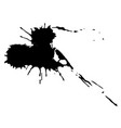 black ink blot vector image