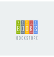 bookstore logo template vector image