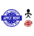 butchery worker grunge icon and stamps vector image vector image