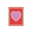card with heart vector image vector image