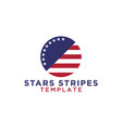 circle stars and stripes logo design template vector image
