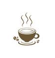 coffee shop logo template vector image