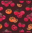 colorful seamless pattern with sliced and whole vector image