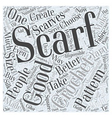 crochet scarf pattern Word Cloud Concept vector image vector image