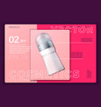 deodorant bottle on modern site template vector image vector image