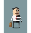 Dual lifestyle businessman and thief vector image vector image