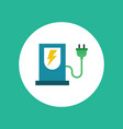 electric charge flat icon vector image vector image