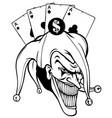 fantasy a joker vampire vector image vector image