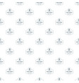 fast food pattern seamless vector image