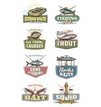 fishing club and fisher equipment icons vector image