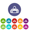 fitness bag icon simple black style vector image