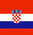 flag of croatia in official rate and colors vector image vector image