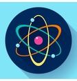 Flat atom icon vector image vector image