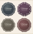 Floral circle frames vector image