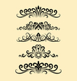 Floral ornament decorations vector image vector image
