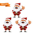 funny cartoon set little santa claus vector image vector image