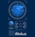 futuristic user interface hud tech elements vector image vector image