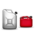 gasoline canister realistic 3d vector image vector image