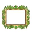 gold green frame vector image vector image