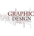 graphic design a tool for business success text vector image