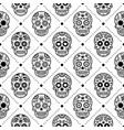 Halloween seamless pattern mexican sugar skull