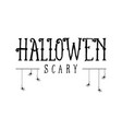 happy halloween text style design vector image