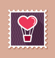 heart air balloon thin line stamp vector image