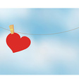 Heart and sky vector image vector image