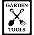 icon with garden tools silhouette vector image vector image