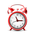 image of a red alarm clock vector image