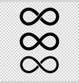 infinity loop icon isolated vector image