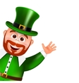 Leprechaun cartoon character peeking Saint vector image vector image