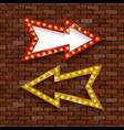 light billboard with arrow vector image vector image
