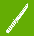 little knife icon green vector image vector image