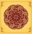 luxury ornamental floral mandala vector image