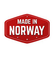 made in norway label or sticker vector image vector image