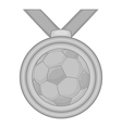 Medal in football icon black monochrome style vector image vector image