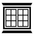 modern window frame icon simple black style vector image vector image