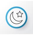 night icon symbol premium quality isolated vector image