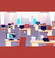 office interior quarantine time isolation period vector image