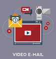 Online video blog design concept set with blogger vector image vector image